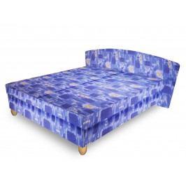 Čalouněná postel NICOL 160x195 cm, modrá látka