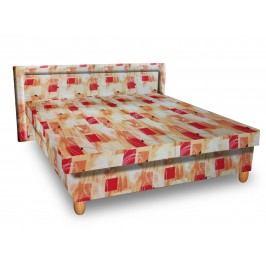 Čalouněná postel IVA 140x200 cm, oranžová látka