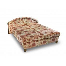 Čalouněná postel MAGDA 120x200 cm, hnědá látka
