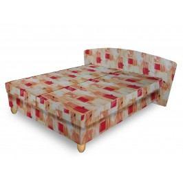 Čalouněná postel NICOL 180x200 cm, oranžová látka