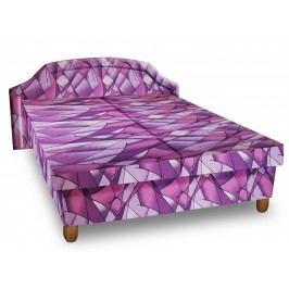 Čalouněná postel KARINA 120x200 cm, fialová látka