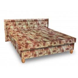 Čalouněná postel IVA 120x200 cm, hnědá látka