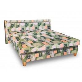 Čalouněná postel IVA 140x200 cm, zelená látka