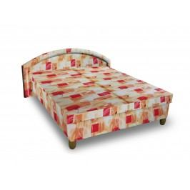 Čalouněná postel MAGDA 140x200 cm, oranžová látka