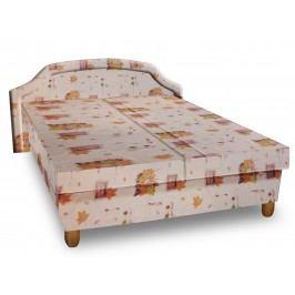 Čalouněná postel KARINA 140x200 cm, béžová látka