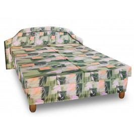 Čalouněná postel KARINA 120x200 cm, zelená látka