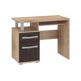 MORAVIA FLAT ANGEL PC stůl 1D1S, dub sonoma/dub sonoma tmavý