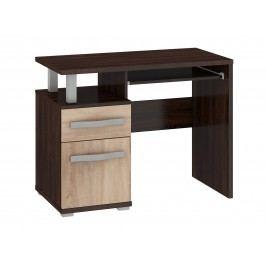 MORAVIA FLAT ANGEL PC stůl 1D1S, dub sonoma tmavý/dub sonoma