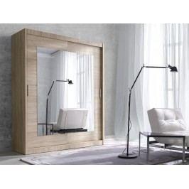 ALFA šatní skříň se zrcadlem 200 TYP 18, dub sonoma světlý