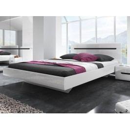 Smartshop HEKTOR postel 160x200 cm TYP 31, bílá/bílý lesk