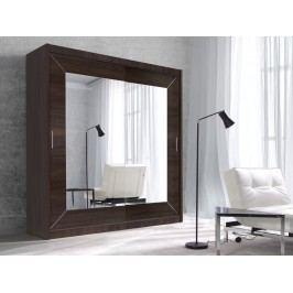 ALFA šatní skříň se zrcadlem 180 TYP 17, dub sonoma tmavý