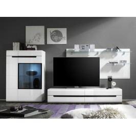 Smartshop HEKTOR obývací stěna 09, bílá/bílý lesk