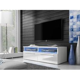 Televizní stolek RTV 6, bílá/bílý lesk