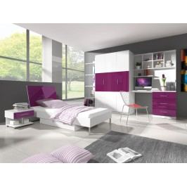 Smartshop Dětský pokoj RAJ 3, bílá/fialový lesk