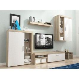 Smartshop Obývací stěna OLI, dub sonoma/bílá