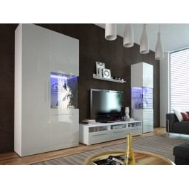 Smartshop Obývací pokoj NICEA 1, bílá/bílý lesk