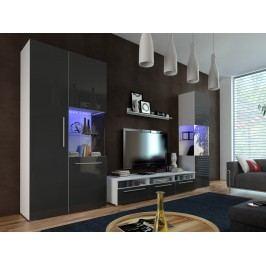 Smartshop Obývací pokoj NICEA 1, bílá/černý lesk