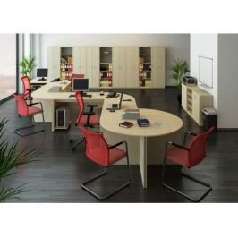 Smartshop TEMPO AS, kancelářská sestava 3, dub sonoma