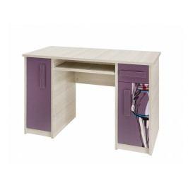 Smartshop BREGI PC stůl, jasan/fialová+móda