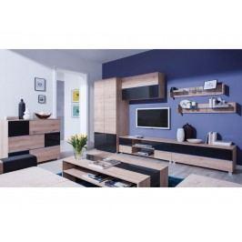 Smartshop ADEN obývací pokoj 2, dub sanremo světlý/grafit lesk