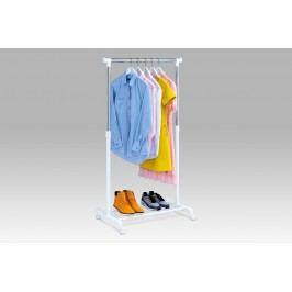 Stojan na šaty s odkladačem na boty ABD-1210 WT, chrom / bílá