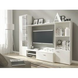 Obývací stěna HUGO, matná bílá