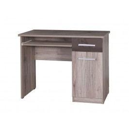 Smartshop BRICO PC stůl, sanremo/hnědý lesk