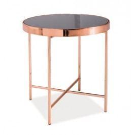 Smartshop Konferenční stolek GINA C, kov/sklo