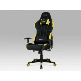 Autronic Kancelářská židle KA-F02 YEL, černá/žlutá