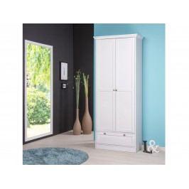 Skříň 2 dveřová + 1 zásuvka LANDWOOD 13, bílá