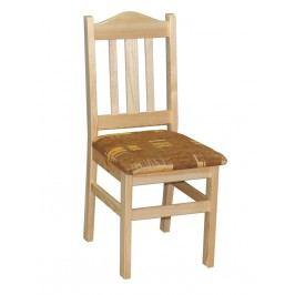 Židle čalouněná nr.2, masiv borovice