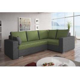 Rohová sedačka VALERIO BIS 8 pravá, zelená látka/šedá látka
