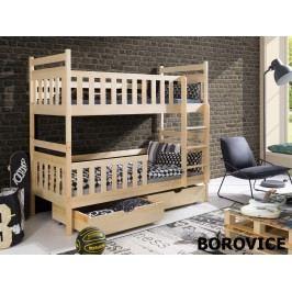 Patrová postel MONIKA 90x190 cm, masiv borovice/barva:..