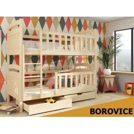 Patrová postel PIOTRUS 80x180 cm, masiv borovice/barva:..