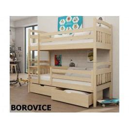 Patrová postel HUGO 80x180 cm, masiv borovice/barva:..