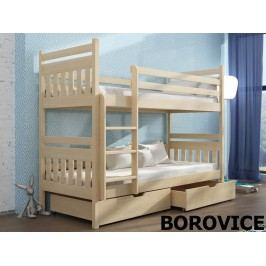 Patrová postel ADAS 90x190 cm, masiv borovice/barva:..