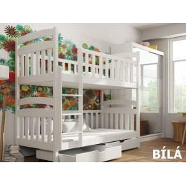 Patrová postel MICHAS 90x200 cm, masiv borovice/barva:..