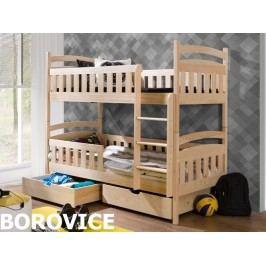 Patrová postel ANTOS 90x200 cm, masiv borovice/barva:..