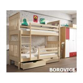 Patrová postel BRUNO 80x180 cm, masiv borovice/barva:..