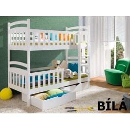 Patrová postel SEBUS 90x200 cm, masiv borovice/barva:..