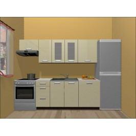 Smartshop Kuchyně TAFNE 180/240 cm, béžový lesk