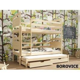 Patrová postel s přistýlkou FIDO 80x180 cm, masiv borovice/barva:..