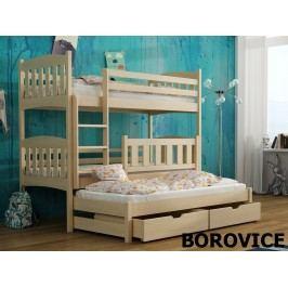 Smartshop Patrová postel s přistýlkou ANKA 80x180 cm, masiv borovice/barva:..