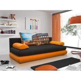 Smartshop Pohovka IBERIS 1, černá látka/oranžová látka/Coloseum