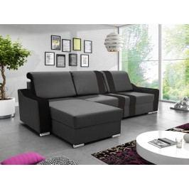 Rohová sedačka COMO 4, grafitová ekokůže/černá ekokůže