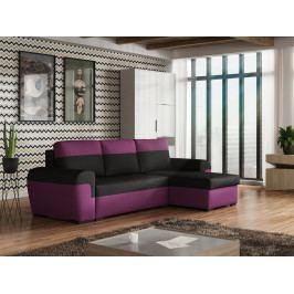 Rohová sedačka FILO, černá látka/fialová látka