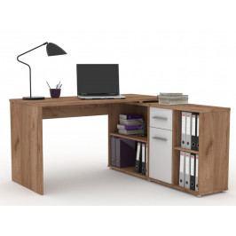 Monoblok stolový RAF 13, dub tmavý/bílá