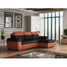 Smartshop Rohová sedačka FILO, černá látka/oranžová látka