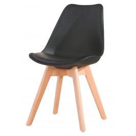 Jídelní židle CROSS, černá