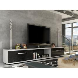 Smartshop Televizní stolek MOLTON RTV, bílá/černý lesk